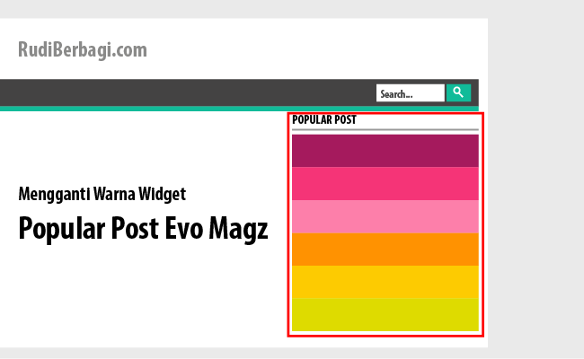 ganti warna widget popular post evo magz