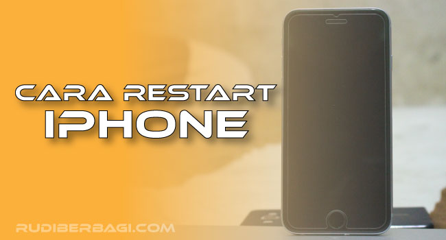 cara restart iphone